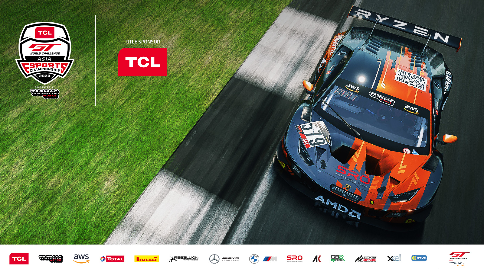 TCL becomes title sponsor of GT World Challenge Asia Esports Presented by Tarmac Works